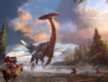 Слайдер: сравниваем машины изHorizon: Zero Dawn cреальными животными