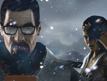 Half-Life 2 насупер-низких настройках графики выглядит как Minecraft