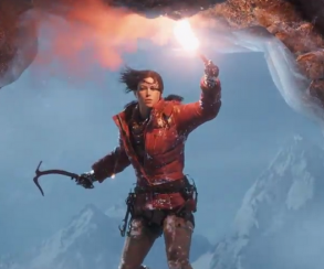 Лара карабкается по горе в трейлере Rise of the Tomb Raider