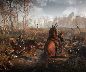Новые скриншоты The Witcher 3 застали Геральта на коне