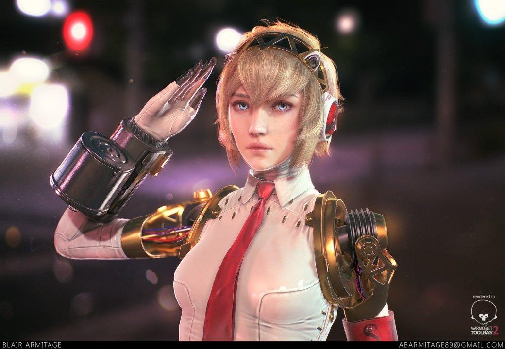 Эгида Руки-пушки: потрясающий арт по старой доброй Persona 3. - Изображение 1
