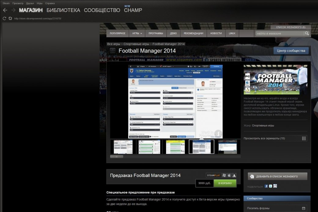 В Steam открылся предзаказ на Football Manager 2014 - Изображение 1