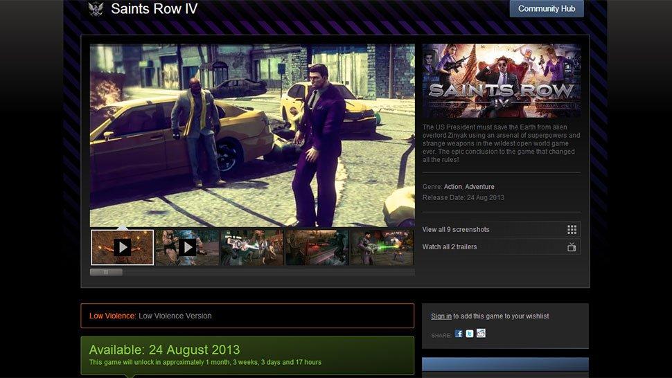 В Steam появилась версия Saints Row 4 с низким уровнем насилия. - Изображение 1