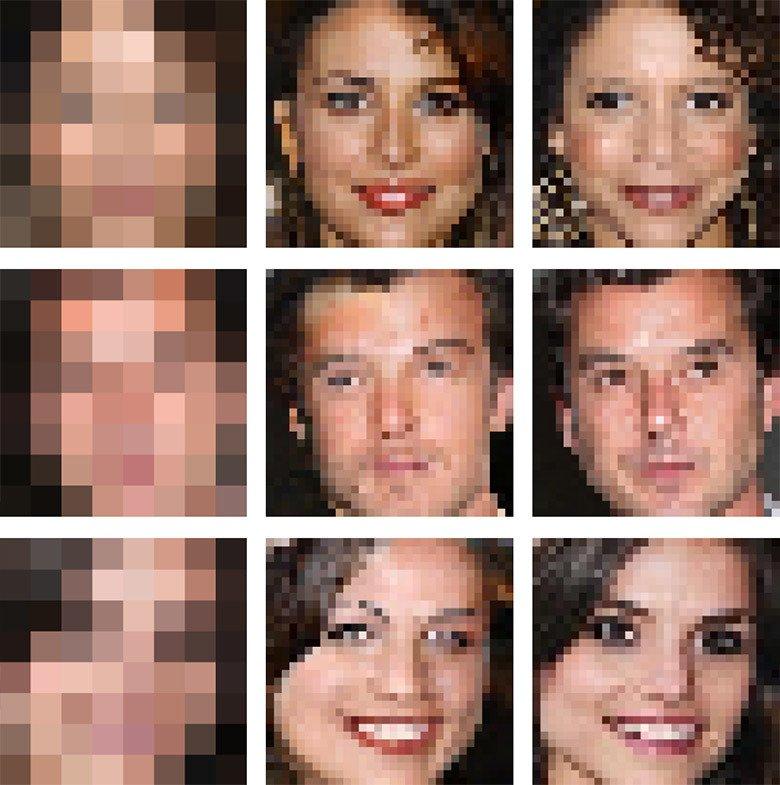 Нейросеть обучили реалистично восстанавливать изображение изнескольких пикселей