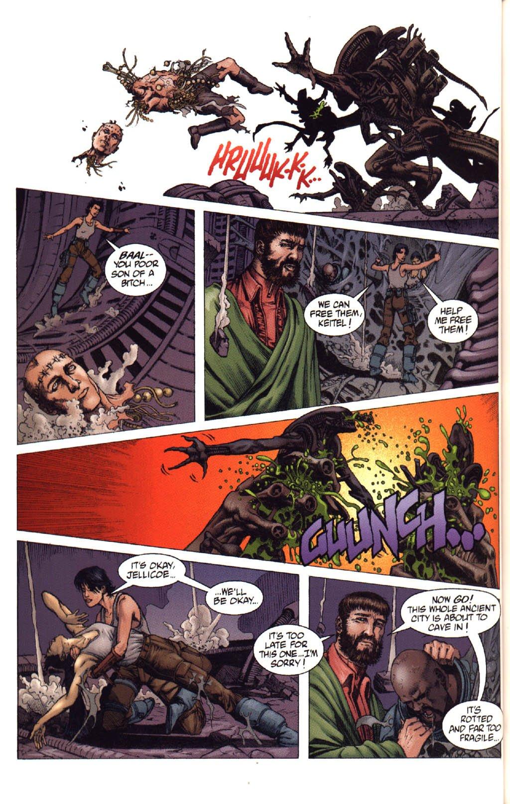 Жуткие комиксы про Чужих, откоторых кровь стынет вжилах. - Изображение 33