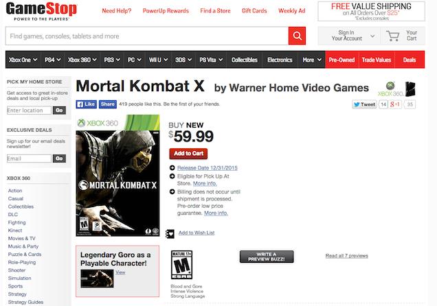Mortal Kombat X для PS3 и Xbox 360 вновь перенесли - Изображение 1