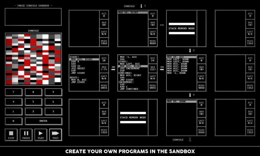 В Steam появилась TIS-100: игра про программирование на ассемблере - Изображение 4