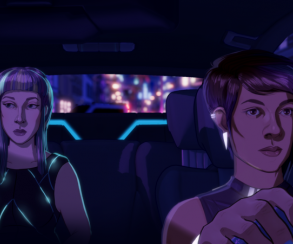E3 2018: неон иUber будущего втрейлере игры Neo Cab