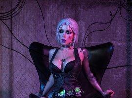 Потрясающе! Cyberpunk 2077 встречается с«Ведьмаком» вневероятно крутом косплее Цири