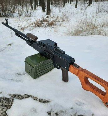 Игрушка-макет Пулемёта Калашникова из дерева