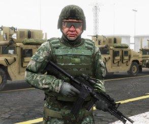 Гифка дня: очень наглый военный в Grand Theft Auto 5