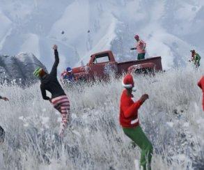 В Grand Theft Auto Online разрешили бросаться снежками