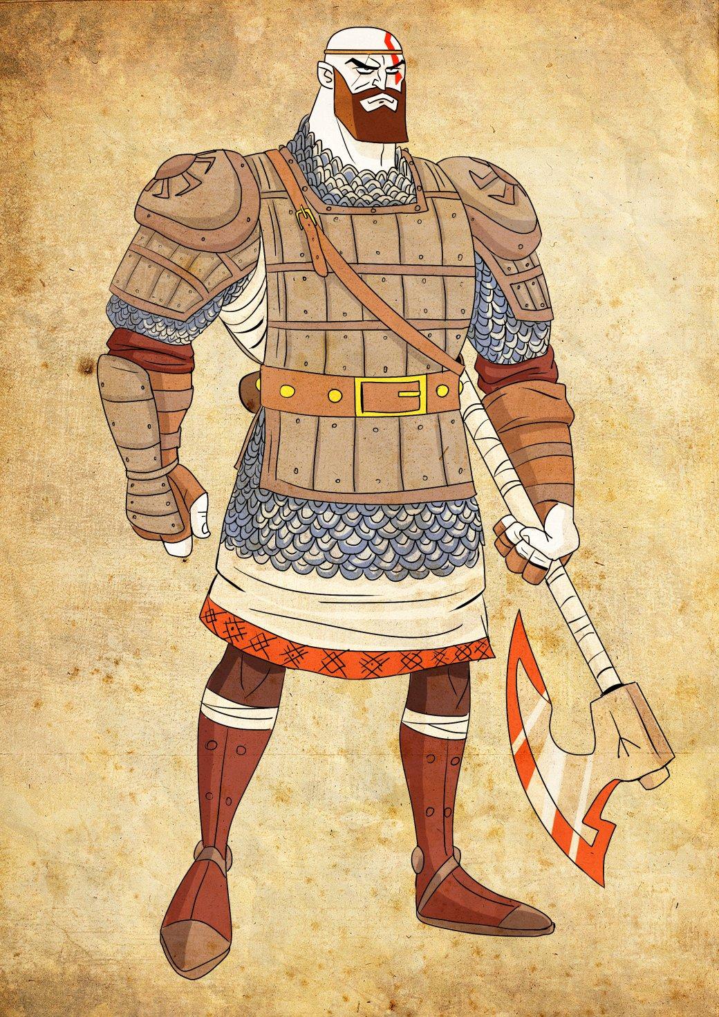 Кратос vsБаба-яга! Какбы выглядела God ofWar вславянской мифологии. - Изображение 5