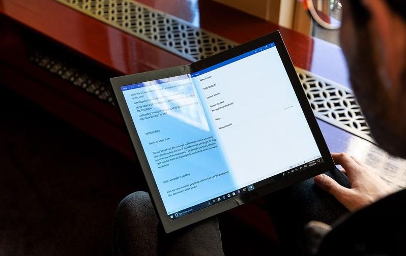 Lenovo показала первый вмире ноутбук соскладным дисплеем | Канобу - Изображение 0