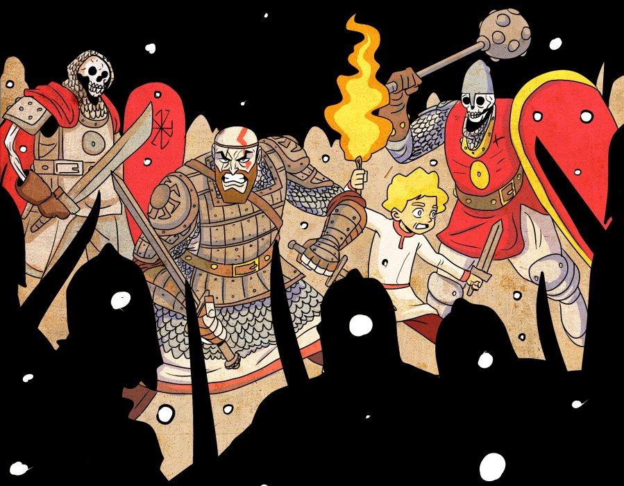 Кратос vsБаба-яга! Какбы выглядела God ofWar вславянской мифологии. - Изображение 1