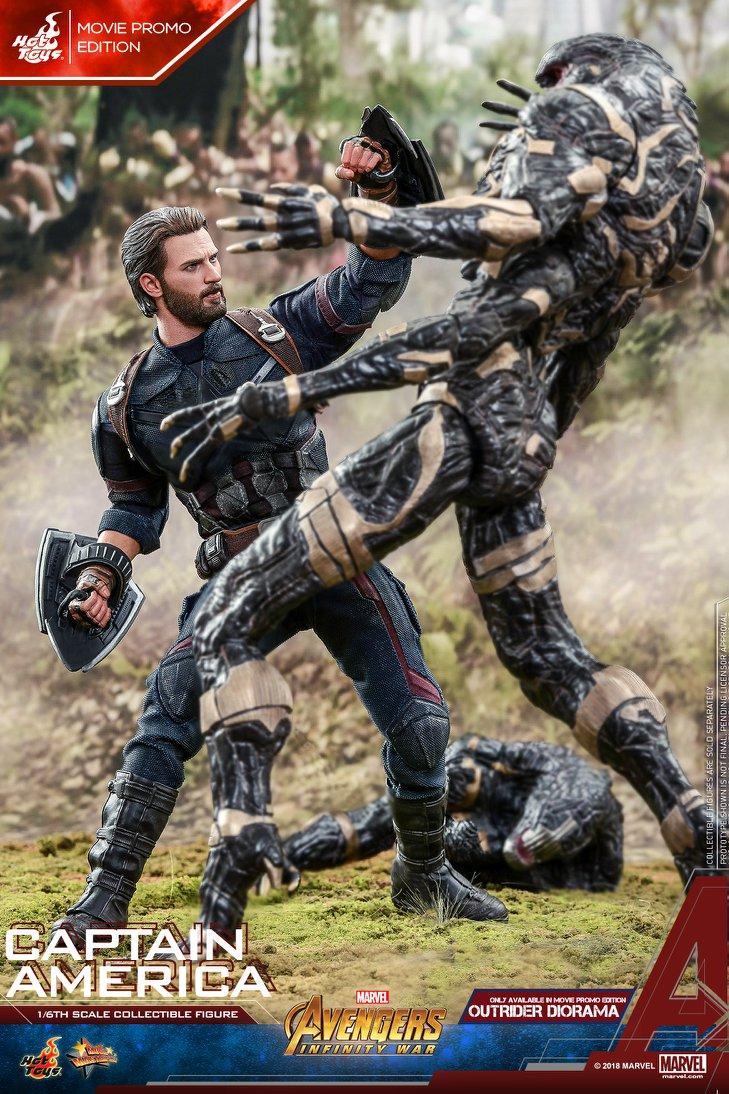 Взгляните нановую фигурку Капитана Америка из«Войны Бесконечности» отHot Toys. - Изображение 5