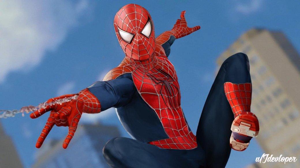 «Ялюблю тебя, костюм Рэйми»: игроки ввосторге отнового облика Человека-паука изSpider-Man наPS4   Канобу - Изображение 5598