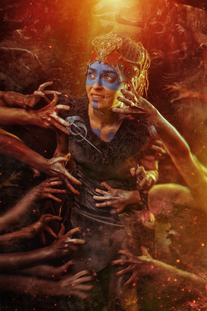 Косплей дня: воительница Сенуа иеегаллюцинации изигры Hellblade: Senua's Sacrifice. - Изображение 4