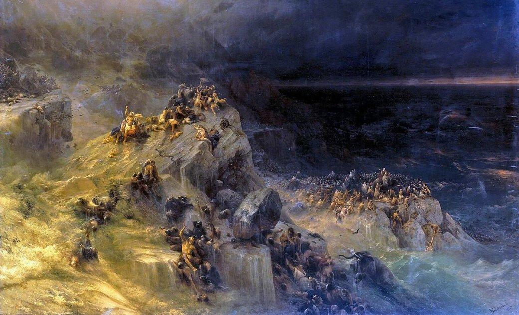 Картинки по запросу картина айвазовского всемирный потоп
