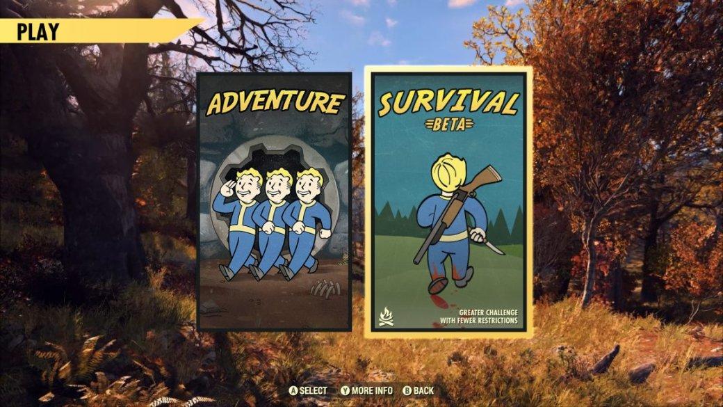 В Fallout 76 появилась бета режима «Выживание» с неограниченным PvP и 20% бонусом к опыту | Канобу - Изображение 1