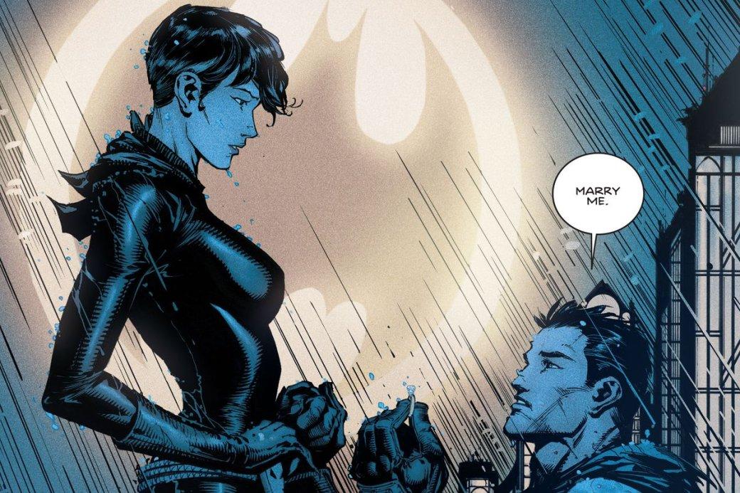Спойлеры ксвадьбе Бэтмена иЖенщины-кошки появились вСети нанесколько дней раньше!. - Изображение 1