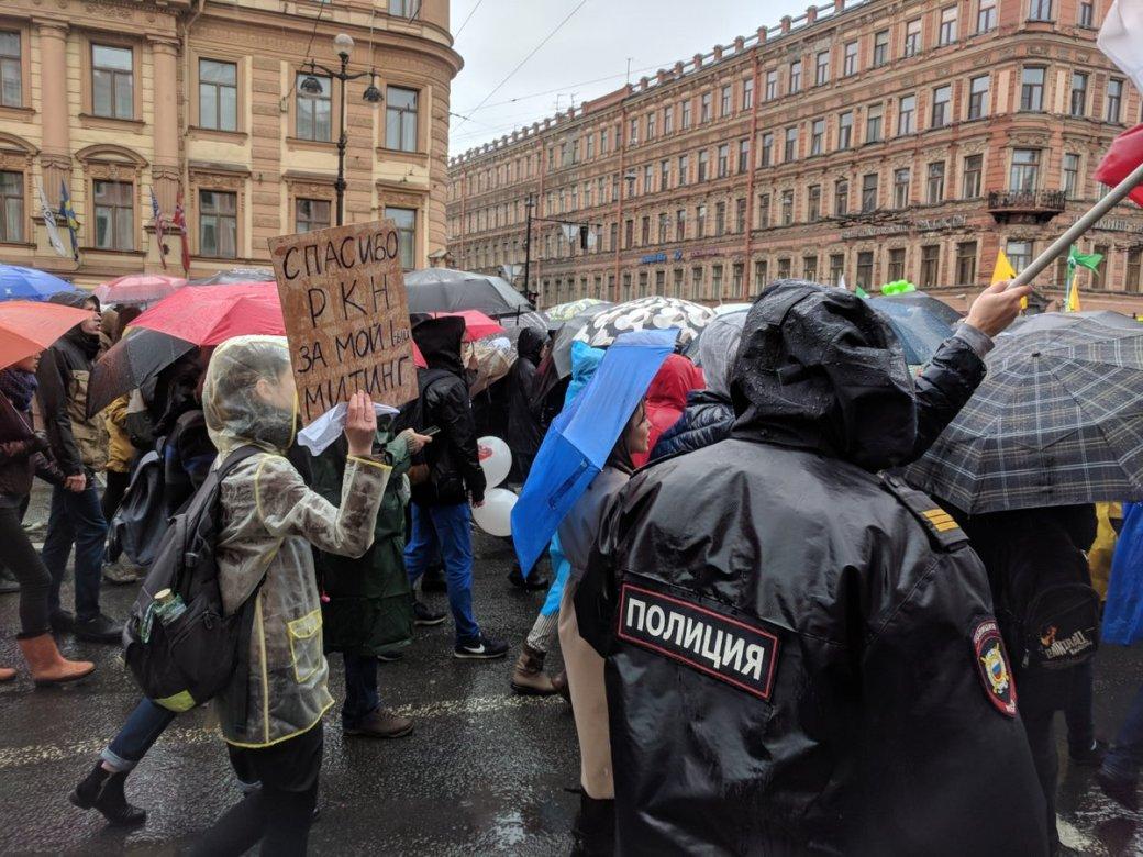 «Телега катит, собака лает»: как прошел петербургский митинг взащиту Telegram. - Изображение 3